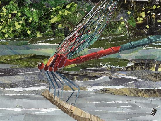 Red Dragonfly-Kirstie Adamson-Giclee Print