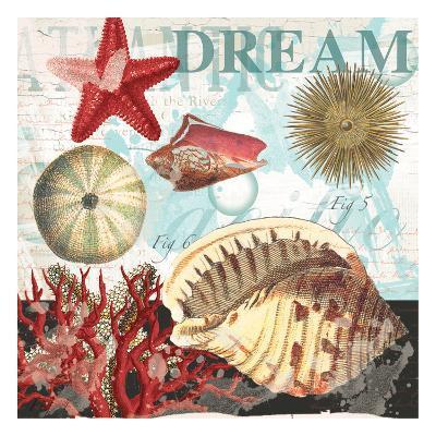 Red Dream Shells-Ophelia & Co^-Art Print