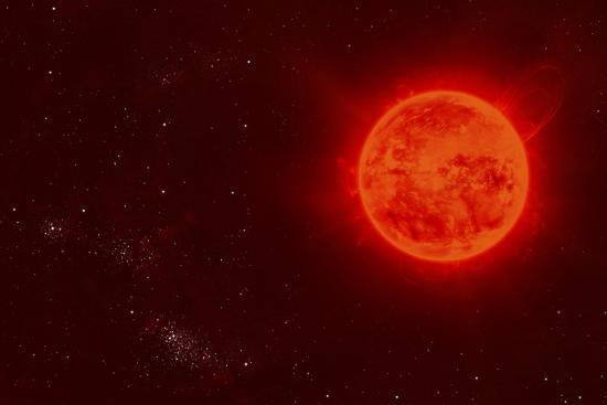 Red Dwarf Sun Floating Through Space-Stocktrek Images-Art Print