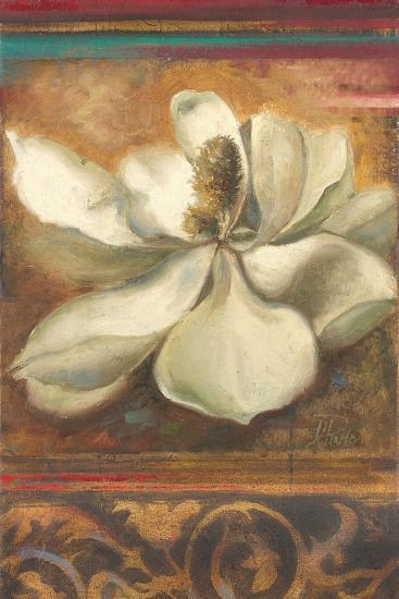 Red Eclecticism with Magnolia-Patricia Pinto-Premium Giclee Print