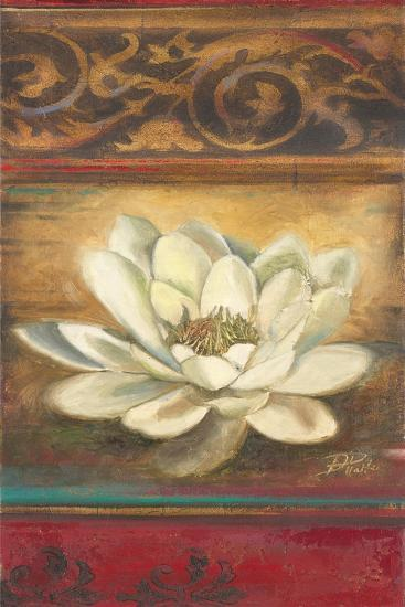 Red Eclecticism with Water Lily-Patricia Pinto-Premium Giclee Print