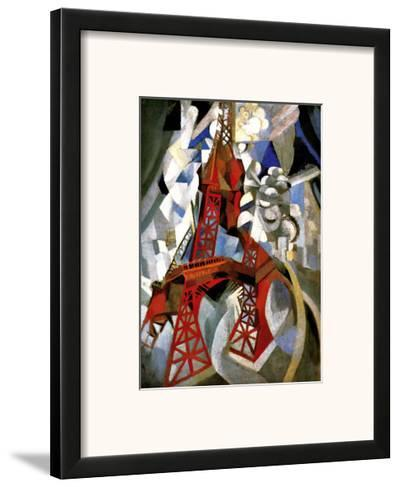Red Eiffel Tower-Robert Delaunay-Framed Giclee Print