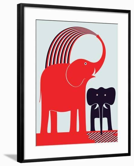 Red Elephant-Greg Mably-Framed Art Print