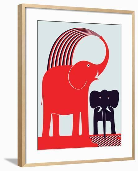 Red Elephant-Greg Mably-Framed Art Print