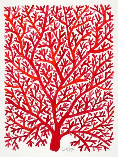 Red Fan Coral-Cat Coquillette-Giclee Print