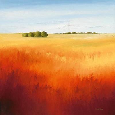Red Fields II-Hans Paus-Art Print