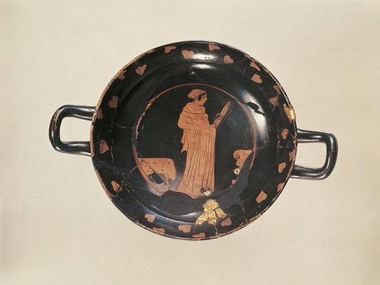 Red-Figure Attic Cup with Later Gold Trimming, from the Kleinaspergle Treasure--Giclee Print