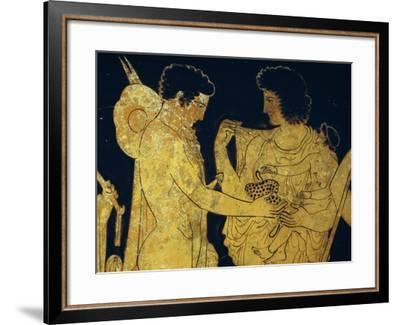 Red-Figure Krater Depicting Meleager Saying Goodbye to His Family before Leaving to Go Hunting--Framed Giclee Print
