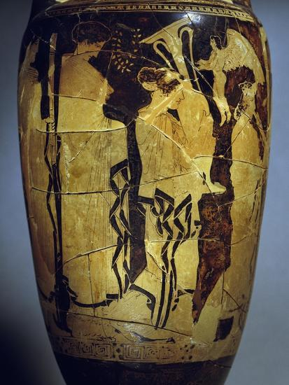 Red-Figure Loutrophoros Representing Offering of Gifts to Bride--Giclee Print