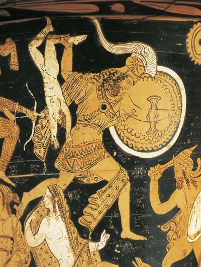 Red-Figure Pottery, Krater, from Civita Castellana, Ancient Falerii, Rome Province, Italy, Detail--Giclee Print
