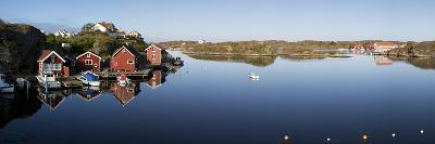 Red Fishermen's Huts and Islands in Archipelago, Southwest Sweden-Stuart Black-Photographic Print