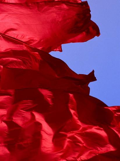 Red Flags Over Tiananmen Square Bejing, China-Phil Weymouth-Photographic Print