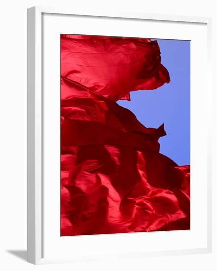 Red Flags Over Tiananmen Square Bejing, China-Phil Weymouth-Framed Photographic Print