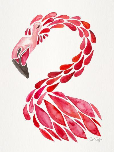 Red Flamingo-Cat Coquillette-Giclee Print