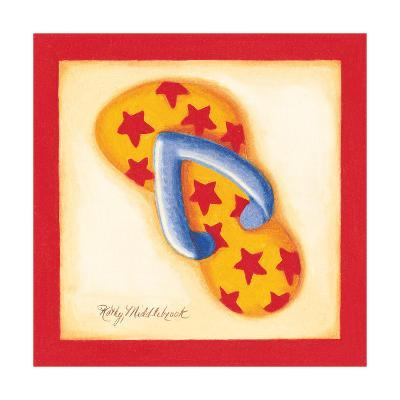 Red Flip Flop I-Kathy Middlebrook-Art Print