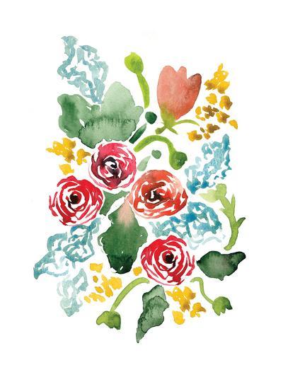 Red Floral Array II-Sara Berrenson-Art Print