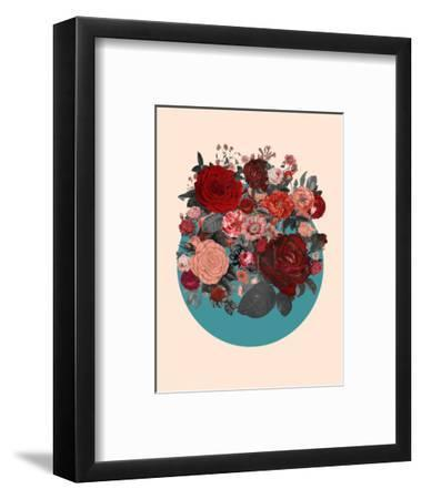 Red Floral Collage--Framed Premium Giclee Print