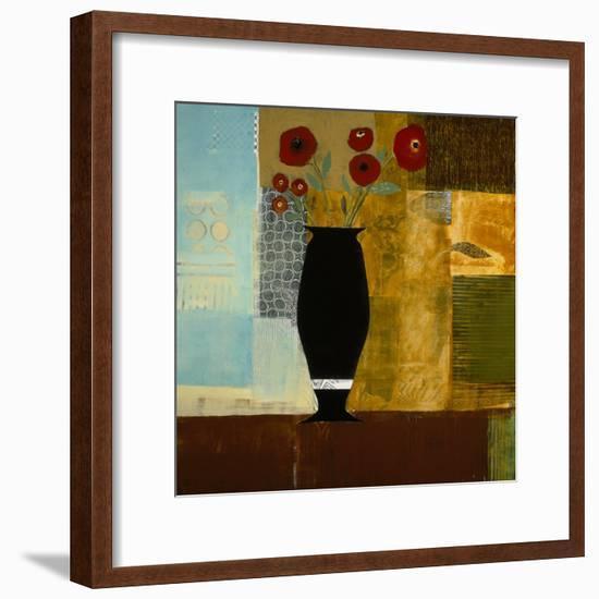Red Floral I-Charlotte Foust-Framed Premium Giclee Print