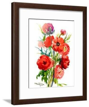 Red Flowers Buttercups-Suren Nersisyan-Framed Art Print