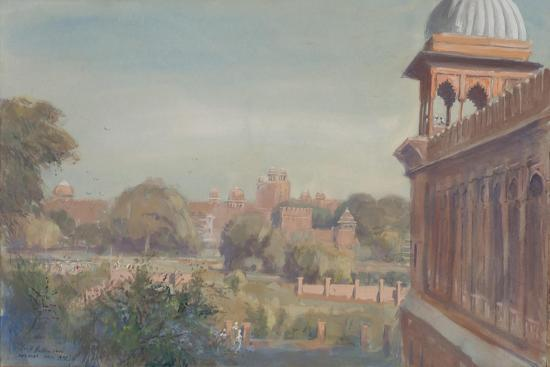 Red Fort from Jama Masjid, 2004-Tim Scott Bolton-Giclee Print