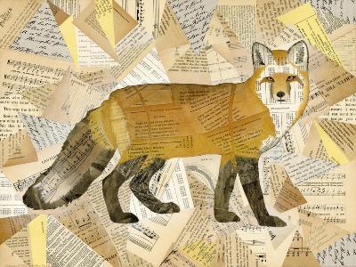 Red Fox Collage I-Nikki Galapon-Art Print