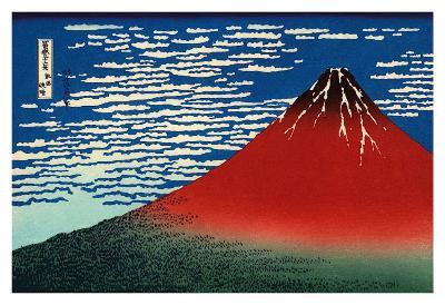 Red Fuji-Katsushika Hokusai-Art Print