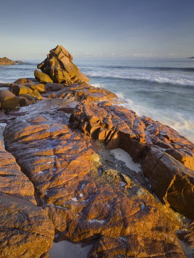 Red Granite at Anse Gaulettes, La Digue Island, the Seychelles-Rainer Mirau-Photographic Print