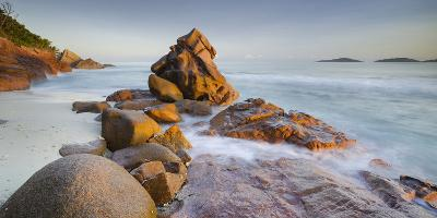 Red Granite at Anse Gaulettes, La Digue Island, the Seychelles-Rainer Mirau-Photographic Print