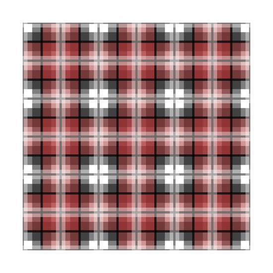 Red Gray Check-Jennifer Nilsson-Giclee Print