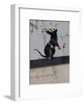 Red handed-Banksy-Framed Art Print