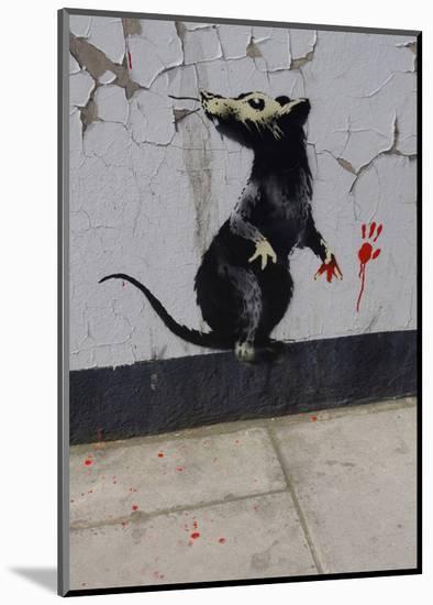 Red handed-Banksy-Mounted Art Print