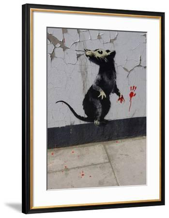 Red handed-Banksy-Framed Giclee Print