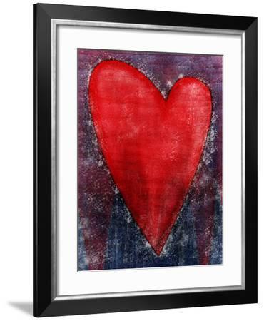 Red Heart Shape--Framed Photo