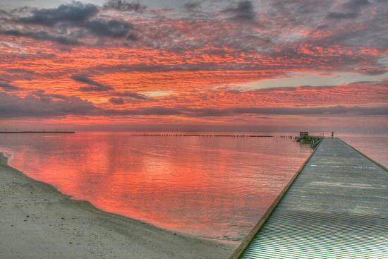 Red Higgs Sunrise-Robert Goldwitz-Photographic Print