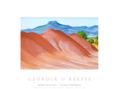 Red Hills with Pedernal, 1936-Georgia O'Keeffe-Art Print