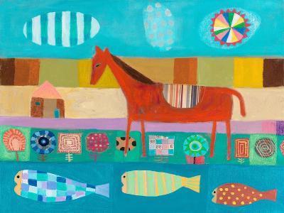 Red Horse-Nathaniel Mather-Art Print