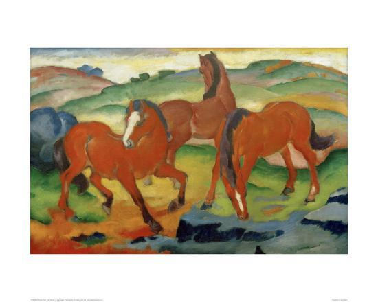 Red Horses-Franz Marc-Giclee Print