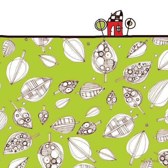 Red House Leaf Field-Robbin Rawlings-Art Print