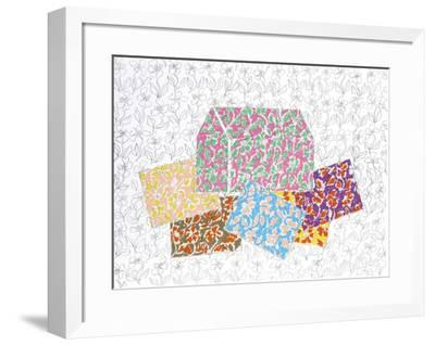 Red House with Cards-George Chemeche-Framed Limited Edition