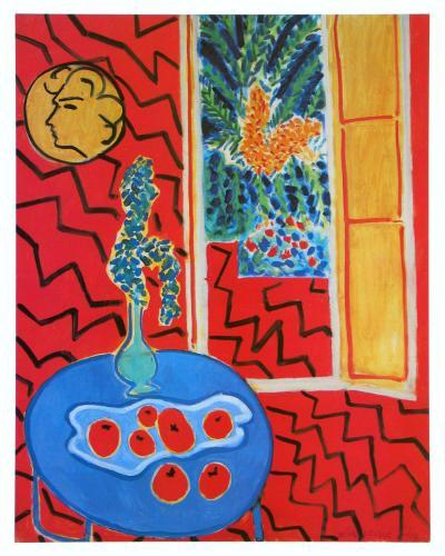 Red Interieur, Still Life on a Blue Table, c.1947-Henri Matisse-Art Print