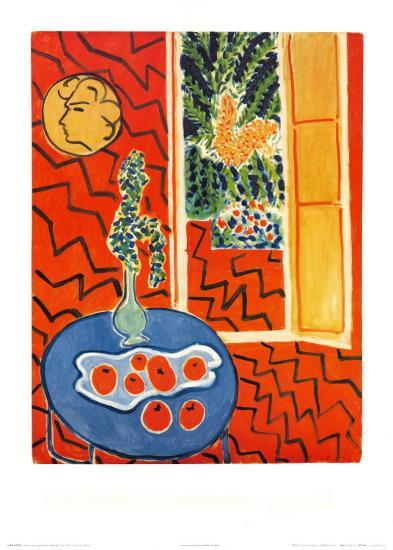 Red Interior, Still Life on Blue Table, c.1947-Henri Matisse-Art Print