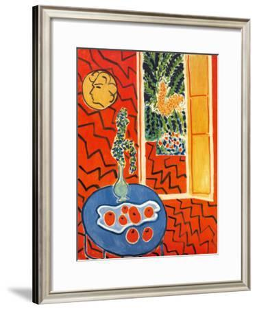 Red Interior, Still Life on Blue Table, c.1947-Henri Matisse-Framed Art Print