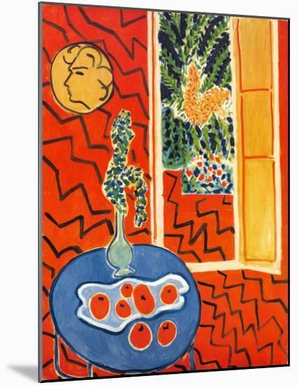 Red Interior, Still Life on Blue Table, c.1947-Henri Matisse-Mounted Art Print