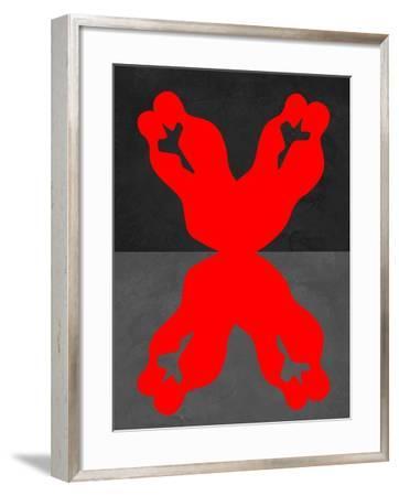 Red Kiss 1-Felix Podgurski-Framed Art Print