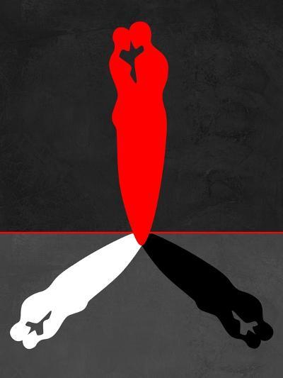 Red Kiss Shadow-Felix Podgurski-Art Print