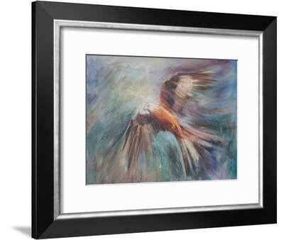 Red Kite Riding The Thermals 2-Anne Farrall Doyle-Framed Art Print