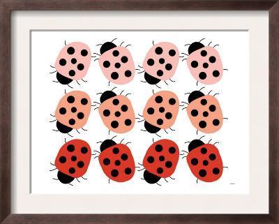 Red Ladybug Family-Avalisa-Framed Art Print