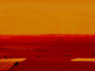Red Land-Kenny Primmer-Art Print