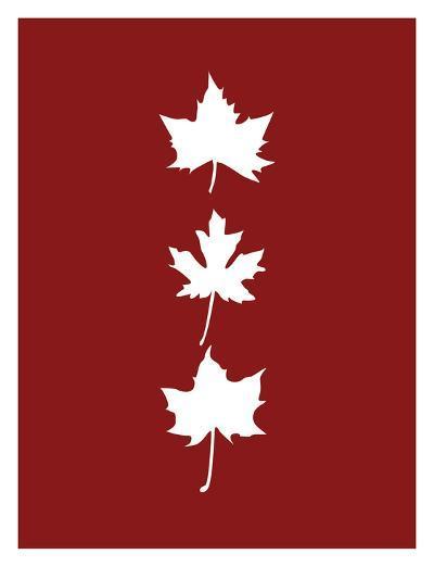 Red Leaves-Jetty Printables-Art Print