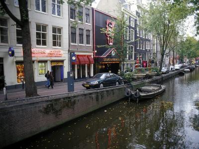 Red Light District Along One of the City Canals, Amsterdam, the Netherlands (Holland)-Richard Nebesky-Photographic Print